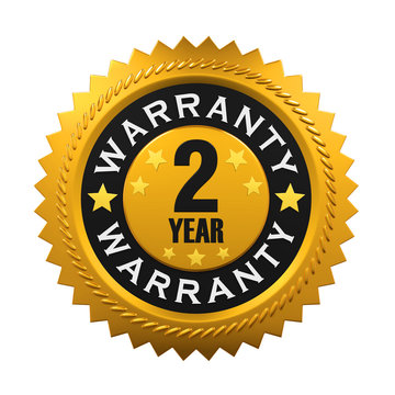 2 Years Warranty Sign. 3D rendering