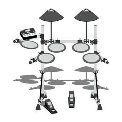 Электронная барабанная установка с контроллером и педалями