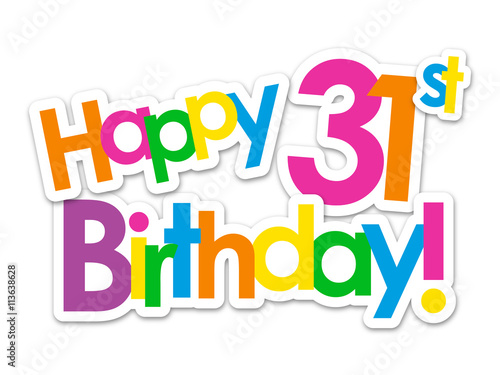 Quot Happy 31st Birthday Vector Card Quot Stock Image And Royalty