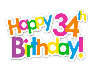 happy 34 birthday coloring pages - photo#22