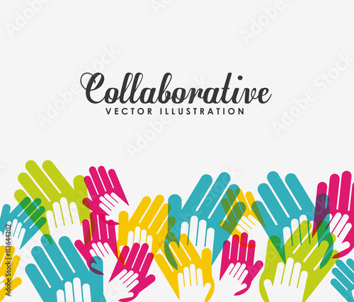 """A Collaborative Design Group: """"collaborative Hands Design """" Stock Image And Royalty-free"""