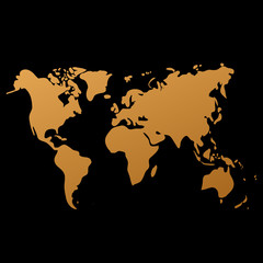 Vector world map on black background, doodle. World map vector. World map eps. World map design. World map art. World map illustration. World map sign. World map flat. World map picture.