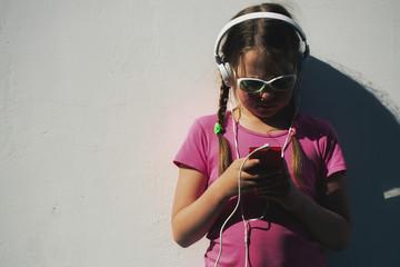 The girl in headphones