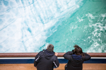 Ship Passengers Looking at Ice Flow in the Endicott Arm