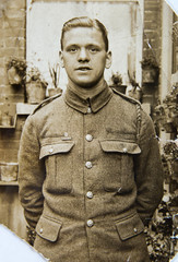 English young man 1940th, vintage photo