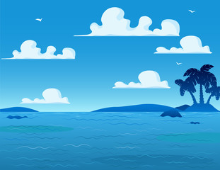 Sea Landscape Background