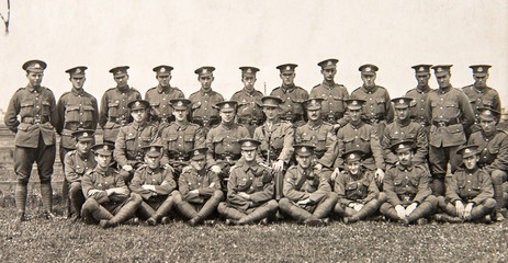 British regiment group photo 1940th. English vintage photo
