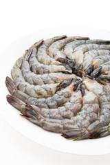 Raw fresh prawn
