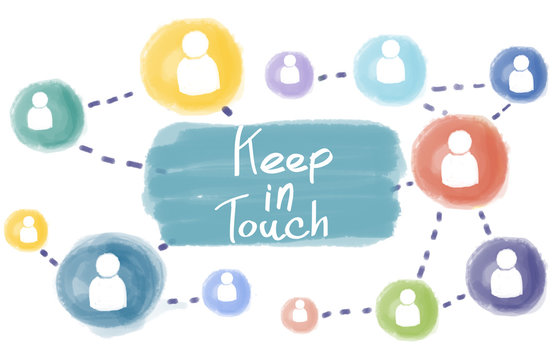 Keep in Touch Connect Follow Social Media Follow Concept