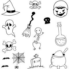 Vector stock halloween doodle