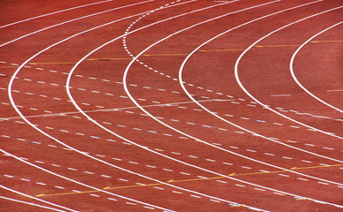 Running Track at Stadium