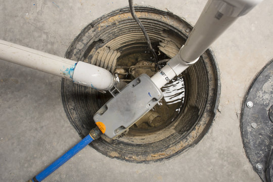 Backup Sump Pump - Overhead