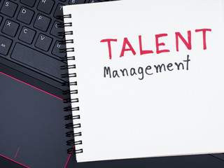 Talent Management on laptop keyboard 2