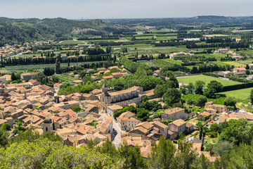 The hill top village of Boulbon in Provence