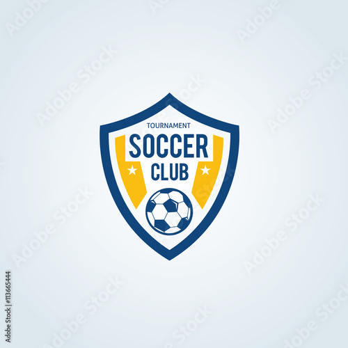 Soccer Club Logo Football Vector Template