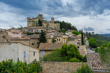 The hill top village of Mirabeau in the Luberon Provence