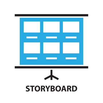 film storyboard template ,icon and symbol