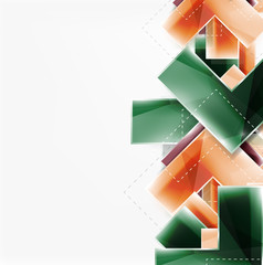 Colorful glossy arrow shapes. Abstract background