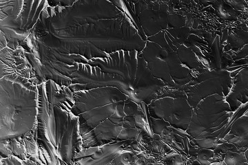 texture of the ice crack, overlay flooring, black and white