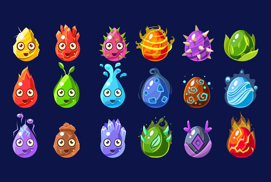 Flash Game Nature Elements Set