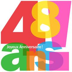 JOYEUX ANNIVERSAIRE 48 ANS