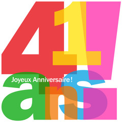 JOYEUX ANNIVERSAIRE 41 ANS