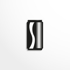 Beverage in aluminum cans. Vector icon.
