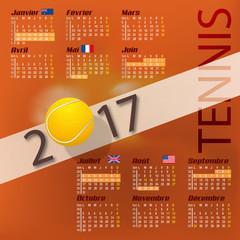 Tennis - Calendrier 2017