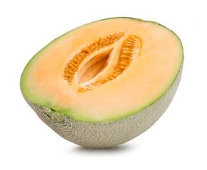 Orange cantaloupe melon isolated