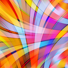 Colorful smooth light lines background, Yellow, orange, pink, purple colors