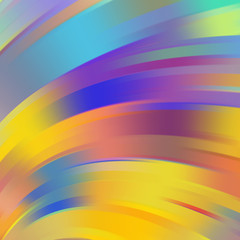 Colorful smooth light lines background, Yellow, blue, purple, orange colors