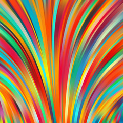 Colorful smooth light lines background. Rainbow-colored