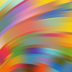 Colorful smooth light lines background. Red, orange, green, blue colors
