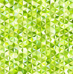 abstract background consisting of small green, white triangles