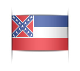 Flag of the state of Mississippi.