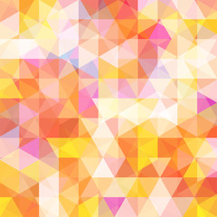 abstract background consisting of white, pink, yellow, orange triangle