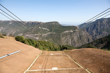 Tatev monastery, canyon and Tatever cable cars