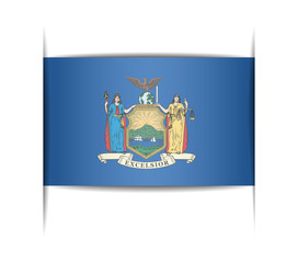 Flag of the state of New York.