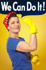 rosie riveter cleaning gloves cloth