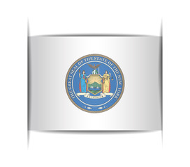 Seal of the state of New York.