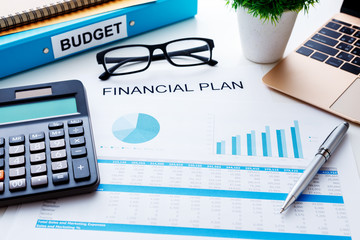 Financial plan concept with financial report