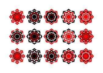 Symmetrical Arab rosette of several colors 11