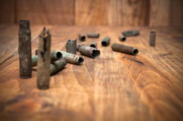 Old cartridge shells
