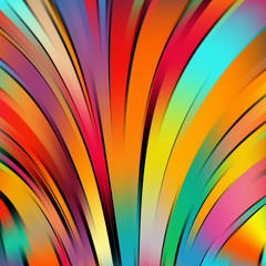 Colorful smooth light lines background. Rainbow-colored. Vector