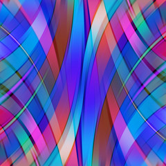 Colorful smooth pink, blue lines background. Vector illustration