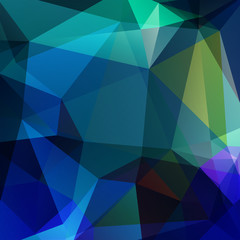 abstract background consisting of green, blue triangles, vector