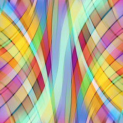 Colorful smooth light lines background. Yellow, red, green, brown colors