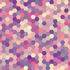 abstract background consisting of pink, purple, violet hexagons