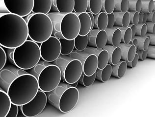 Metal tubes stacked