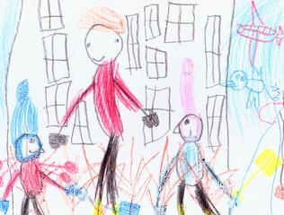 Children Drawing Pencils